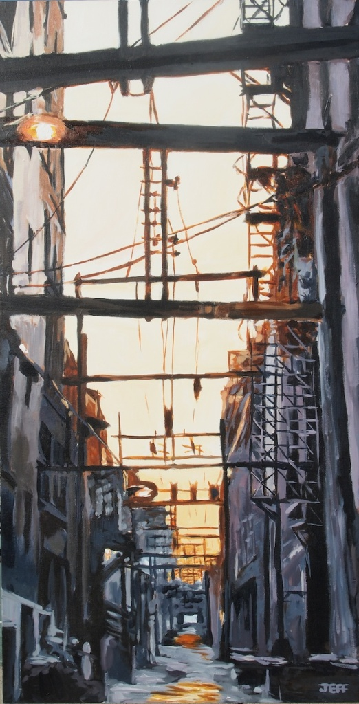 """Title: East of Carral  Medium: Acrylic on Canvas  Size: 24"""" x 48"""""""