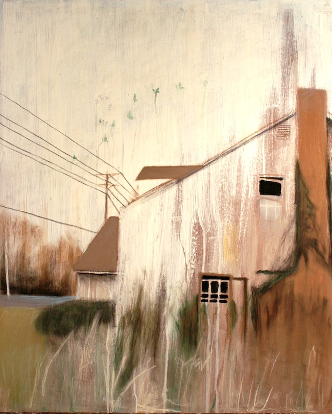 """Title: House Ghost  Medium: Mixed Media Drawing  Size: 24""""x 29"""""""