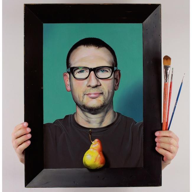 Kevork Cholakian - Los Angeles, CA Title: Self portrait  Medium: Oil, cast resin, wood  Size: 24 x 22 x 7in.