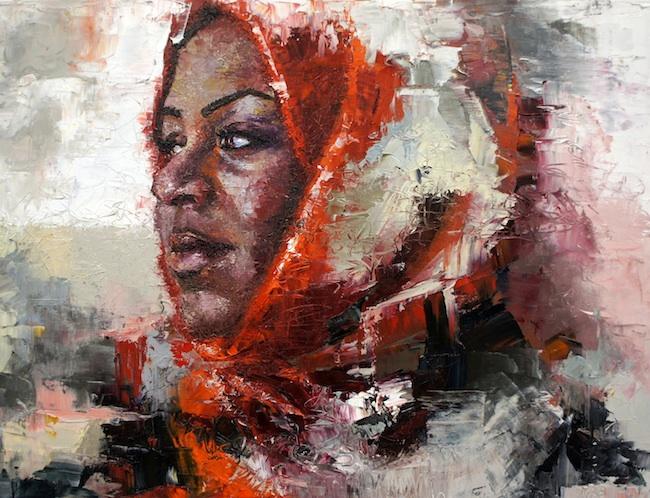 Title: Beautiful Mali Medium: Oil on Canvas Size: 18x24 Inches