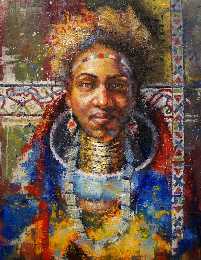 Title: Chloe Ndebele Medium: Oil on Canvas Size: 30x40 Inches