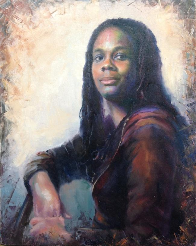 Valeriya Grant - Richmond, CA Title: Twenty First Century  Medium: Oil  Size: 20x16