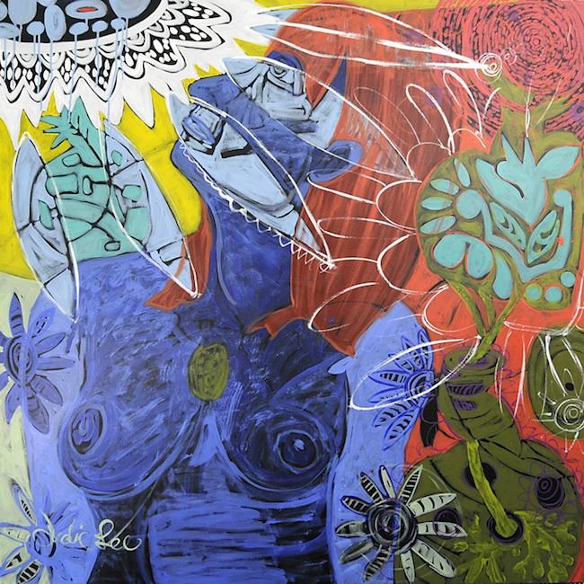 "Title: Kerstin1  Medium: Acrylic on Wood Panel  Size: 48""x48"""