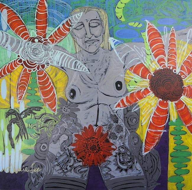 """Title: Kate1  Medium: Acrylic on Wood Panel  Size: 48""""x48"""""""