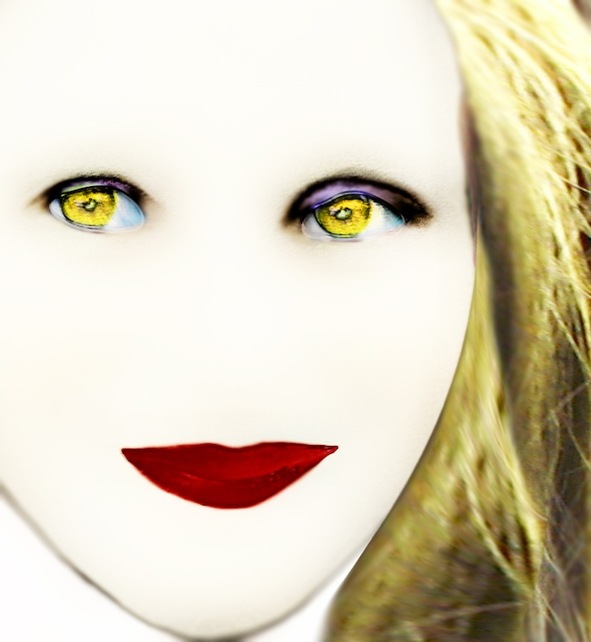 Title: The Girl with the Yellow eyes  Medium: photography  Size: 45 X 40