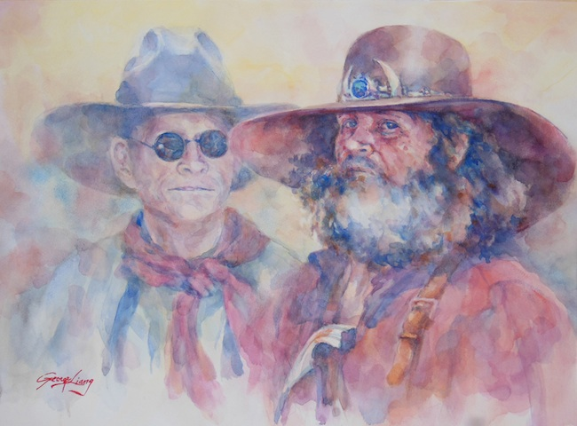 """Title: The Hunter name Bowie-knife  Medium: Watercolor  Size: 18"""" x 24"""""""