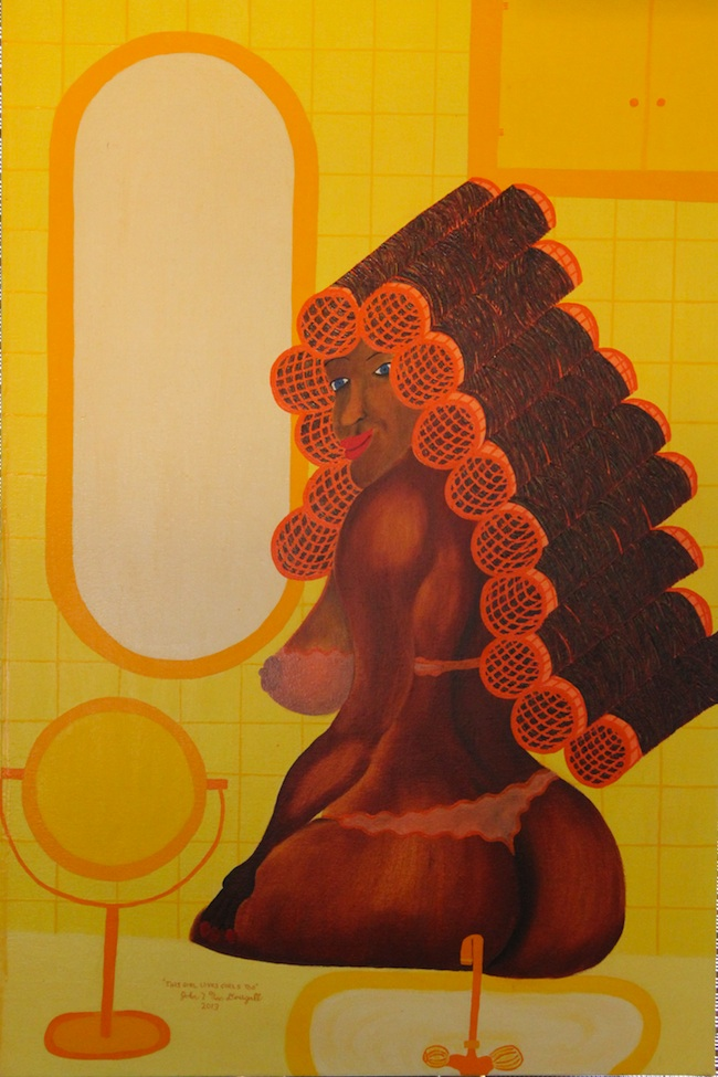"""Title: This girl loves curls too  Medium: Oil on canvas  Size: 24""""w 36""""h"""