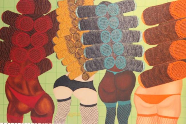 "Title: Girls wants curls Medium: Oil on canvas Size: 24""w 36""h"