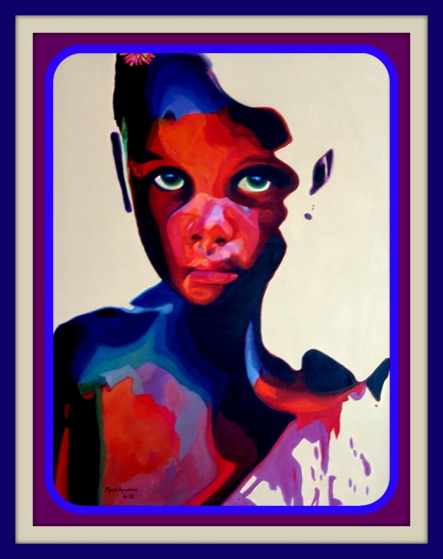 Title: Girl W/ Green Eyes  Medium: Oil on Canvas  Size: 30 x40