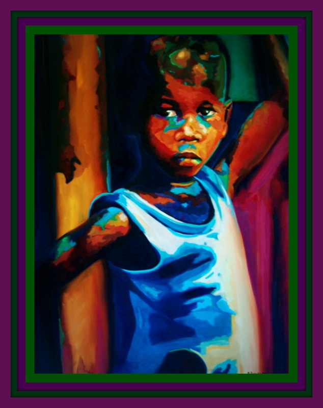 Title: Girl in Blue Dress  Medium: Oil on Canvas  Size: 30 x 40