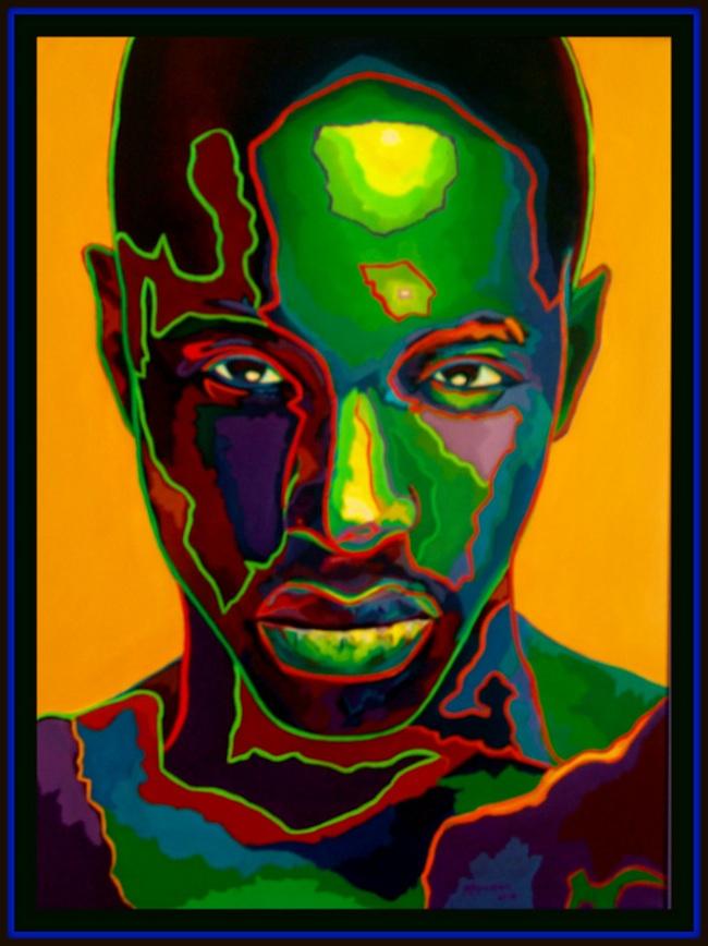 Title: Green Man  Medium: Oil on Canvas  Size: 30 x 40