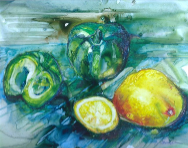 Title: Arrangements Medium: watercolour Size: 8x11