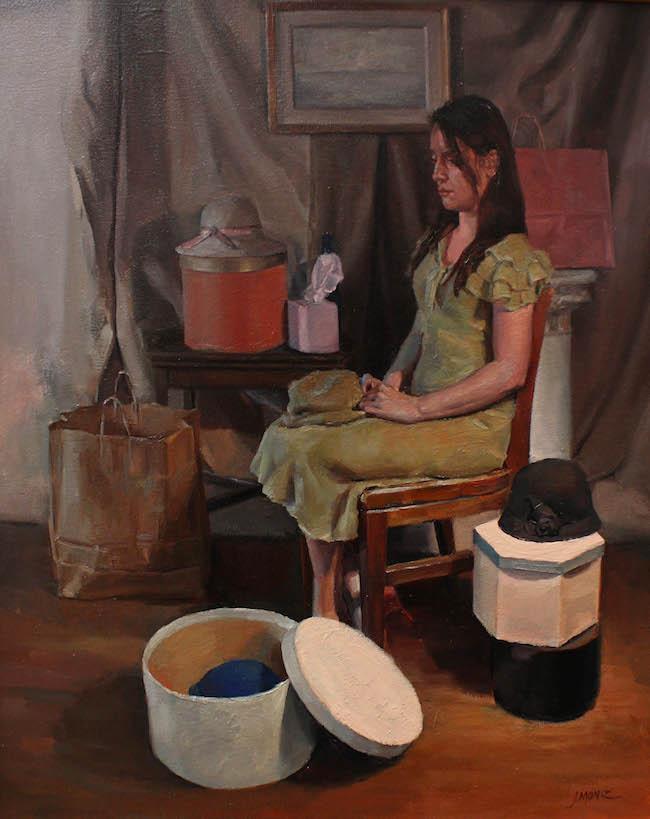 "Title: Reverie Medium: oil on canvas Size: 23"" x 19"""