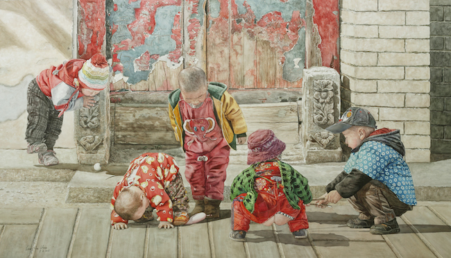 Title Whose kids are they? No.2 Medium	 Watercolor Size	 100x176cm