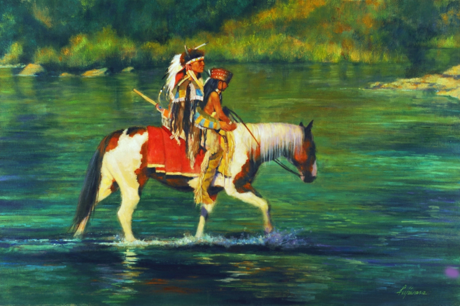 "Title:Green River Medium:	Oil Size:	36""x24"""