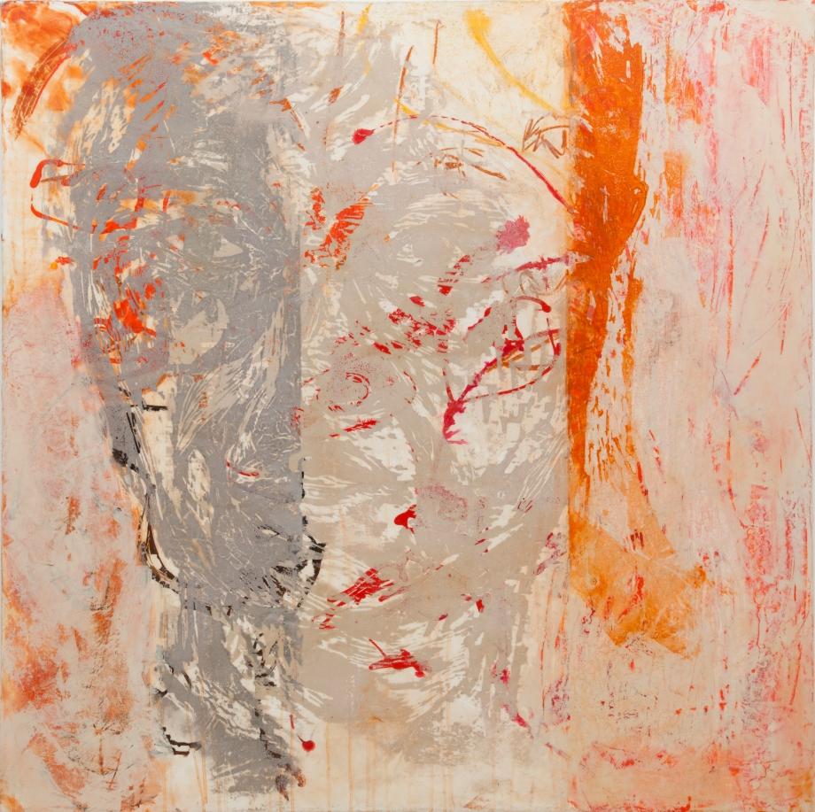 "Title:Orange Medium:Woodcut with grahpite and acrylic Size:48"" x 48"""