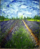 Title:Lavender field Medium:oil Size:8x10