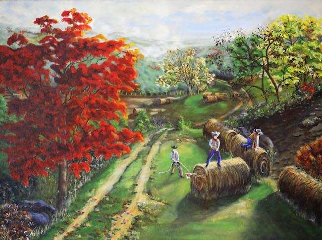 Title:Smoky Mountain Cowboys Medium:acrylic on canvas Size:18 x 24