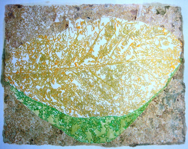 "Title:Gold Leaf Medium:	Ink on Yupo Paper Size:	10.75""x8.5"""