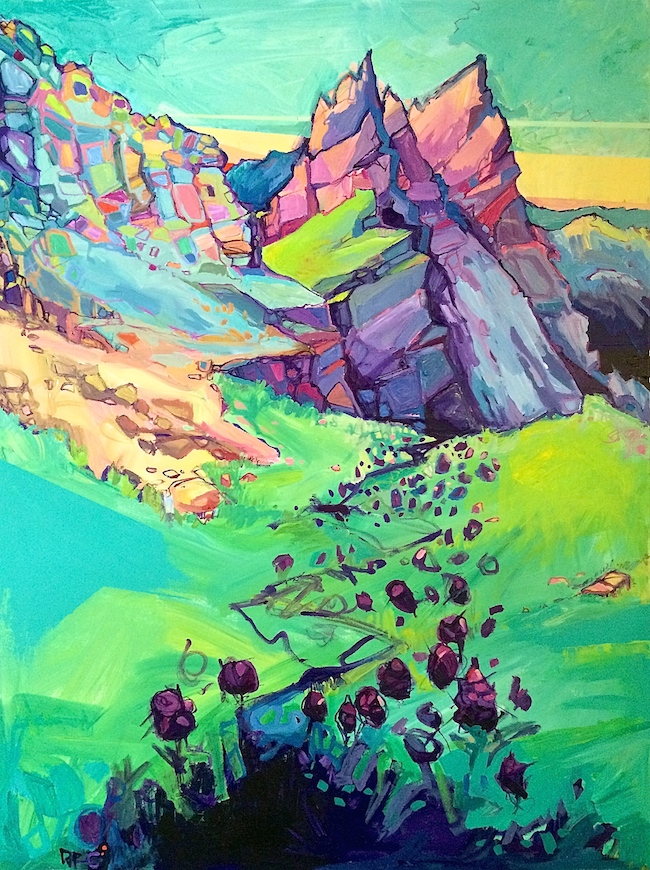 """Title:Blooming Alps Medium:Acrylic on canvas Size:3'4"""" - 2'6"""""""