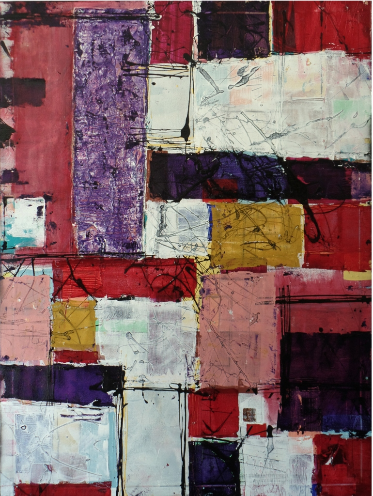 """Title:QUILTED Medium:mixed media Size:36""""x48"""""""