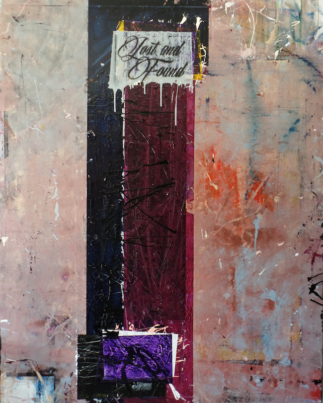 """Title:LOST AND FOUND Medium:mixed media Size:48""""x56"""""""