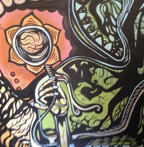 Title:Raising Awareness Medium: Acrylic on Canvas. Size: 20x20