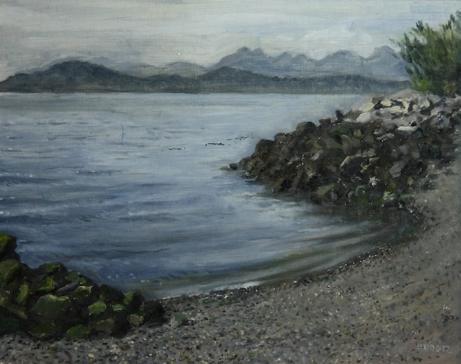 Title:Myrtle Edwards Beach Medium:Oil on Canvas Size:16 x 20 inches