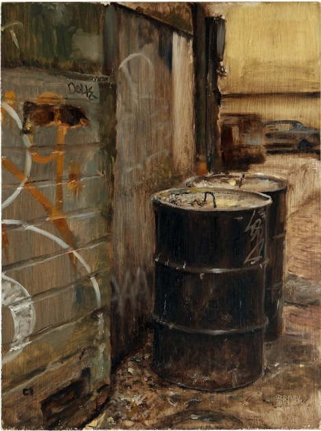 Title:	Belltown Alley Medium:	Oil On Panel Size:	16 x 12 inches