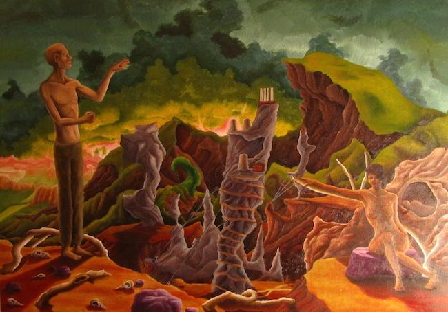 Title:The Experiment Medium:Oil Paint on Canvas Size:30x36