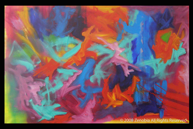 """Title:Mountains in the West Medium:oil Size:30""""X48"""""""