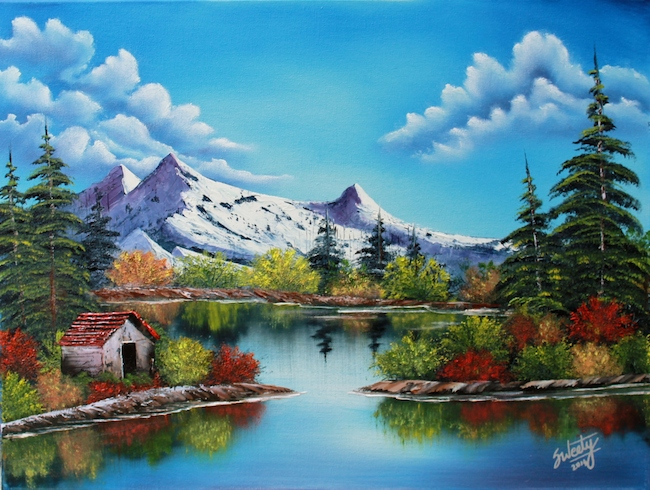 Title:Heavenly Springs Medium:Oil Size:18x24in