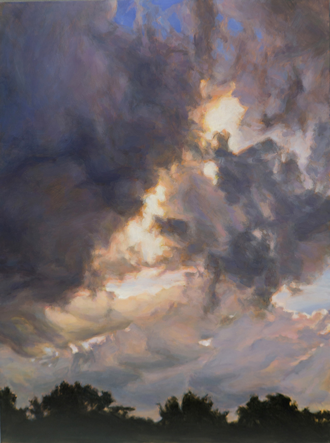 Title:Heavy Skies Medium:	oil on panel Size:	24 x 16""