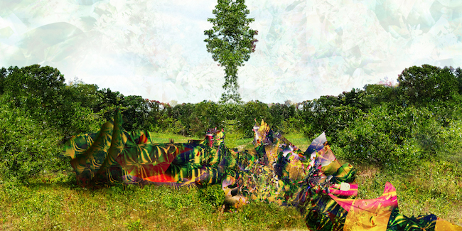 Title:Garden of Earthly Delights 5F Medium:Digital on aluminum Size:40w x 20h