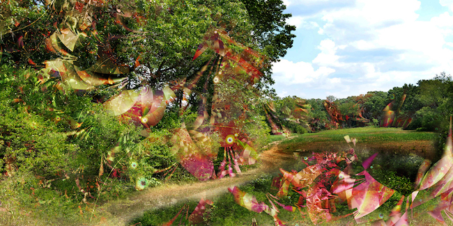 Title:Garden of Earthly Delights 6 Medium:Digital on aluminum Size:40w x 20h