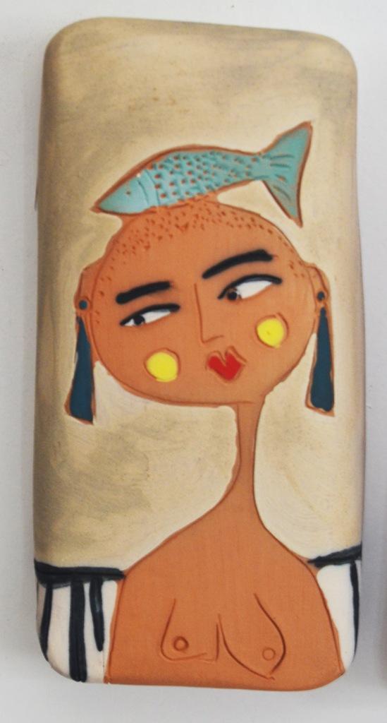 Title:fish head Medium:ceramics,angobe Size:15x8x3