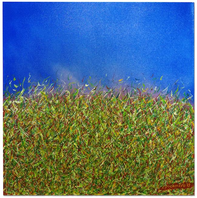 "Title:Landscape Medium:Acrylic & gouache Size:20' X 20"""