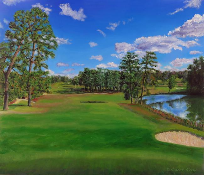 Title:Palmetto Golf Medium:Oil on canvas Size:24x28 inches