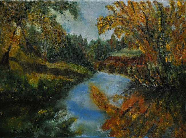 Title:Autumn Gold Medium:Oil on canvas Size:	12x16