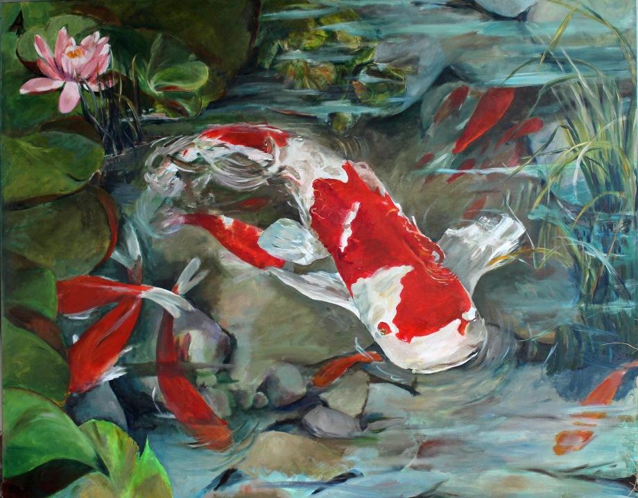 "Title:Kio Pond Medium:Acrylic on Cavas Size:48"" x 60"""