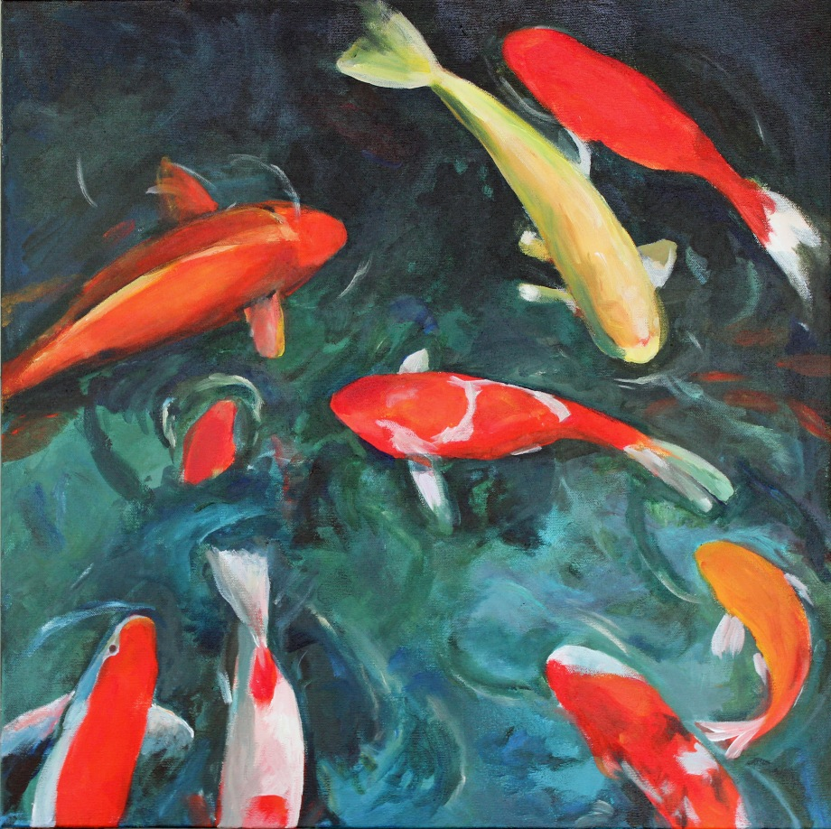 """Title:Deep End of the Pool Medium:Acrylic on Canvas Size:24"""" x 24"""""""