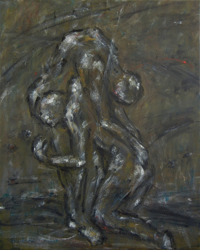 """Title:Father and Son Medium:Oil on Canvas Size:20""""x16"""""""