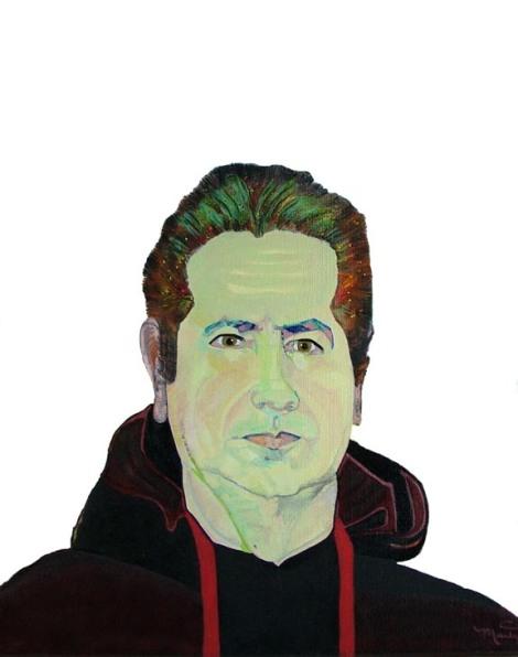 "TitleSelf Portrait   MediumAcrylic   Size9"" x 12"""