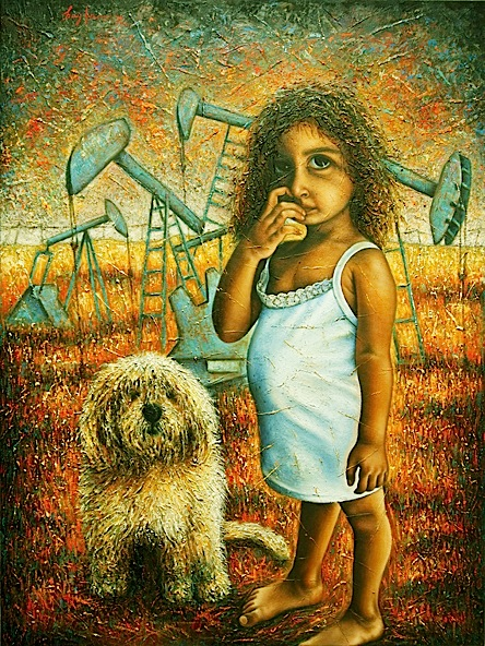 TitleMy World   Medium	oil on canvas   Size	30x40 inches