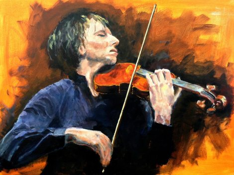 TitlePortrait of Joshua Bell   Medium	Acrylic   Size	24x36