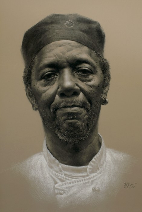 "Zimou Tan – Oakland, CA Title	George   Medium	Charcoal   Size	24""x30"""