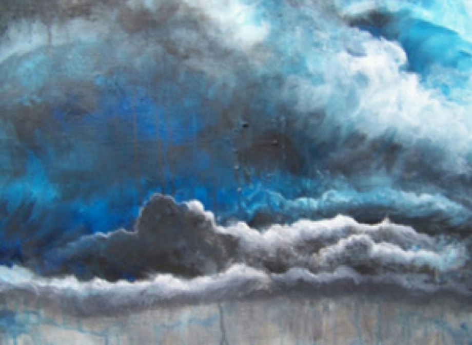 Title Stormy Sky's Make Me Feel Sad   Medium acrylic   Size 18;;x24''