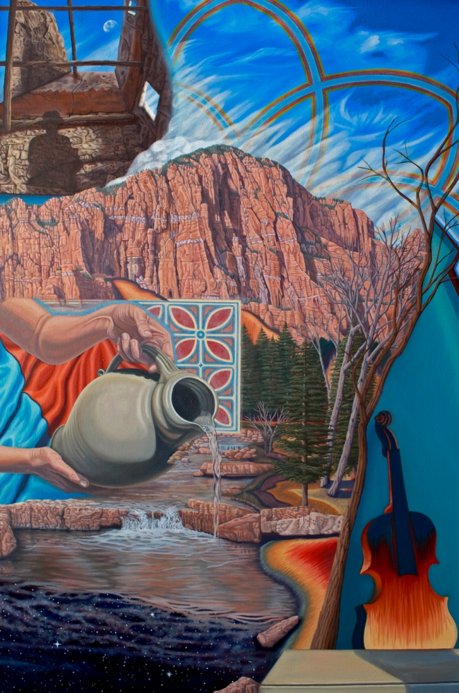 Title Water Carier and Catharsis: Wintertime Suite   Medium Oil On Canvas   Size 72 x 48 inches