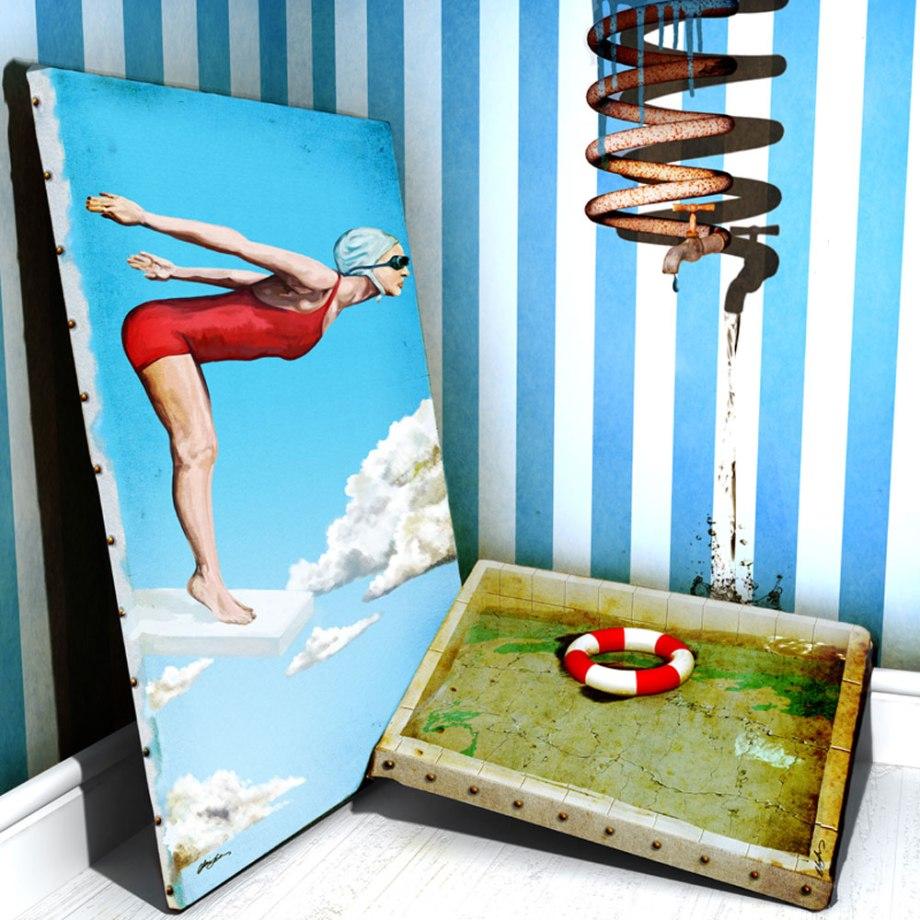 Title The Pool   Medium Digital   Size 40 cm x 40 cm