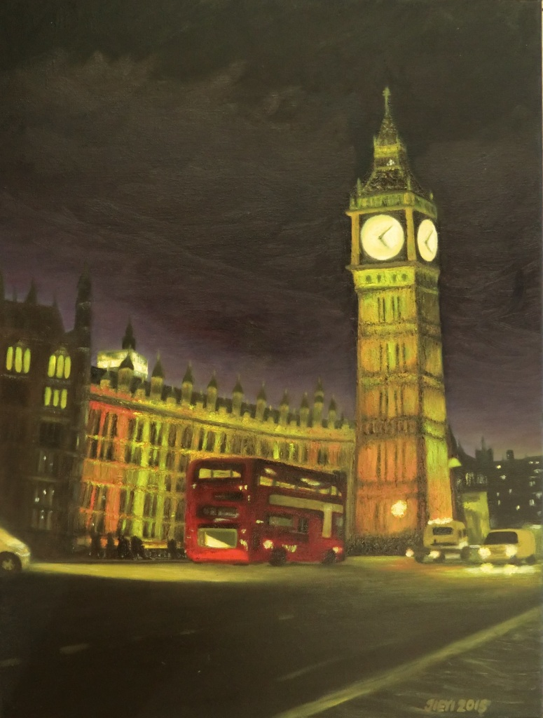 Title The City Life   Medium Oil   Size 46x61cm